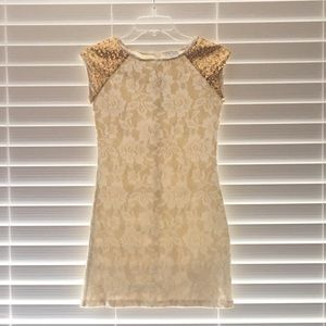 Gold/Ivory Blush Party Dress